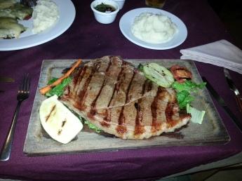 James' steak before...