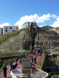 The cute funicular to get to the interactive cultural space