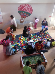 "Familes participate in projects to ""encourage self-esteem and creativity"""