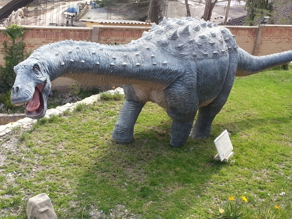 It is very hard not to make dino noises when walking round the park