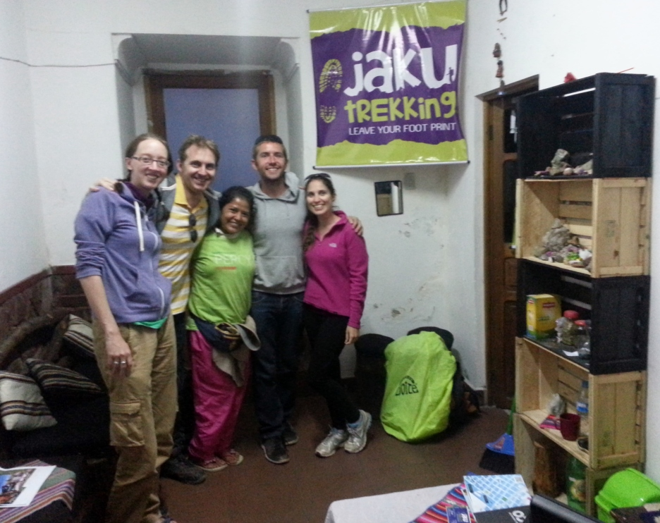Happy but utterly exhausted, back in Jaku's office after the trek
