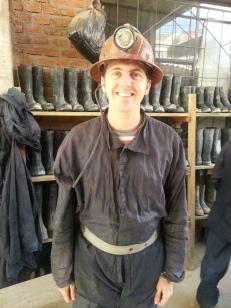James as a miner: Fireman Sam.